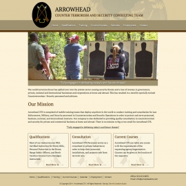 Arrowhead CTS site design by Sean Tolentino