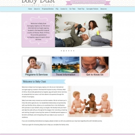 Our Baby Dust site design by Sean Tolentino