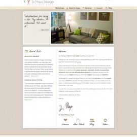 Dr Maya Shlanger site design by Sean Tolentino