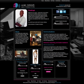 Kenny Adamson site design by Sean Tolentino